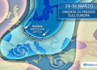 29-30 marzo meteo italia freddo europea