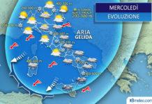 Il tempo sull'Italia mercoledì 25 marzo