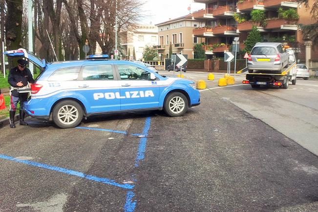 Polizia blocco