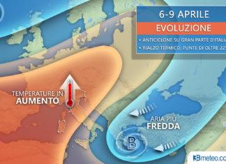 6-9 Aprile meteo italia europa