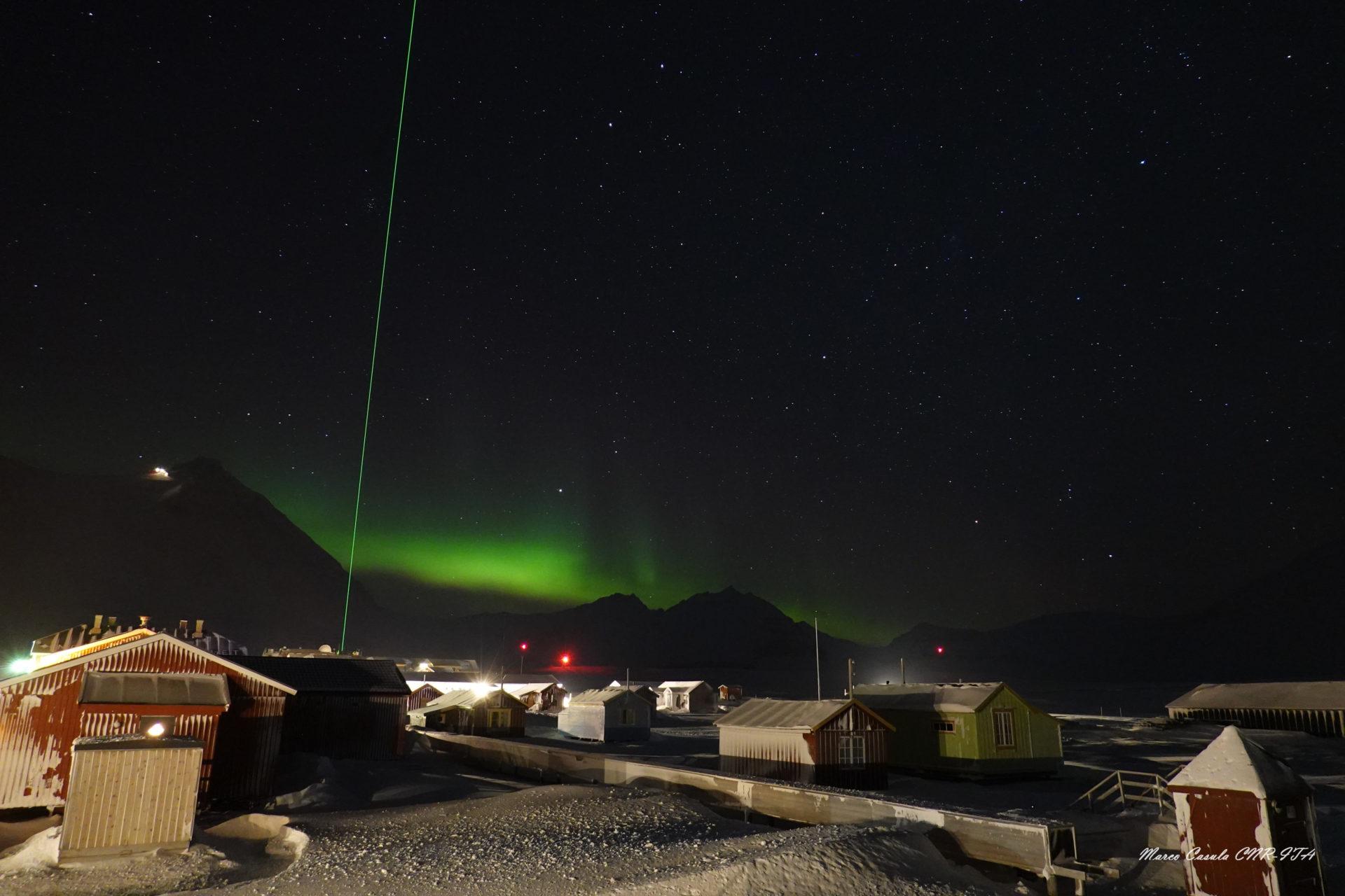 L'aurora boreale da Ny Alesund