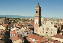 Monza dall'alto con il Duomo
