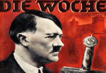 Propaganda nazista con Adolf Hitler