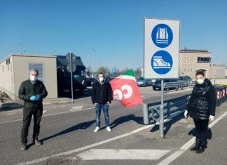 Protesta Filt-Cgil contro Fercam a Interporto