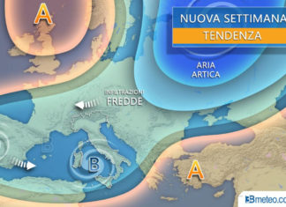 Situazione previsioni meteo aprile