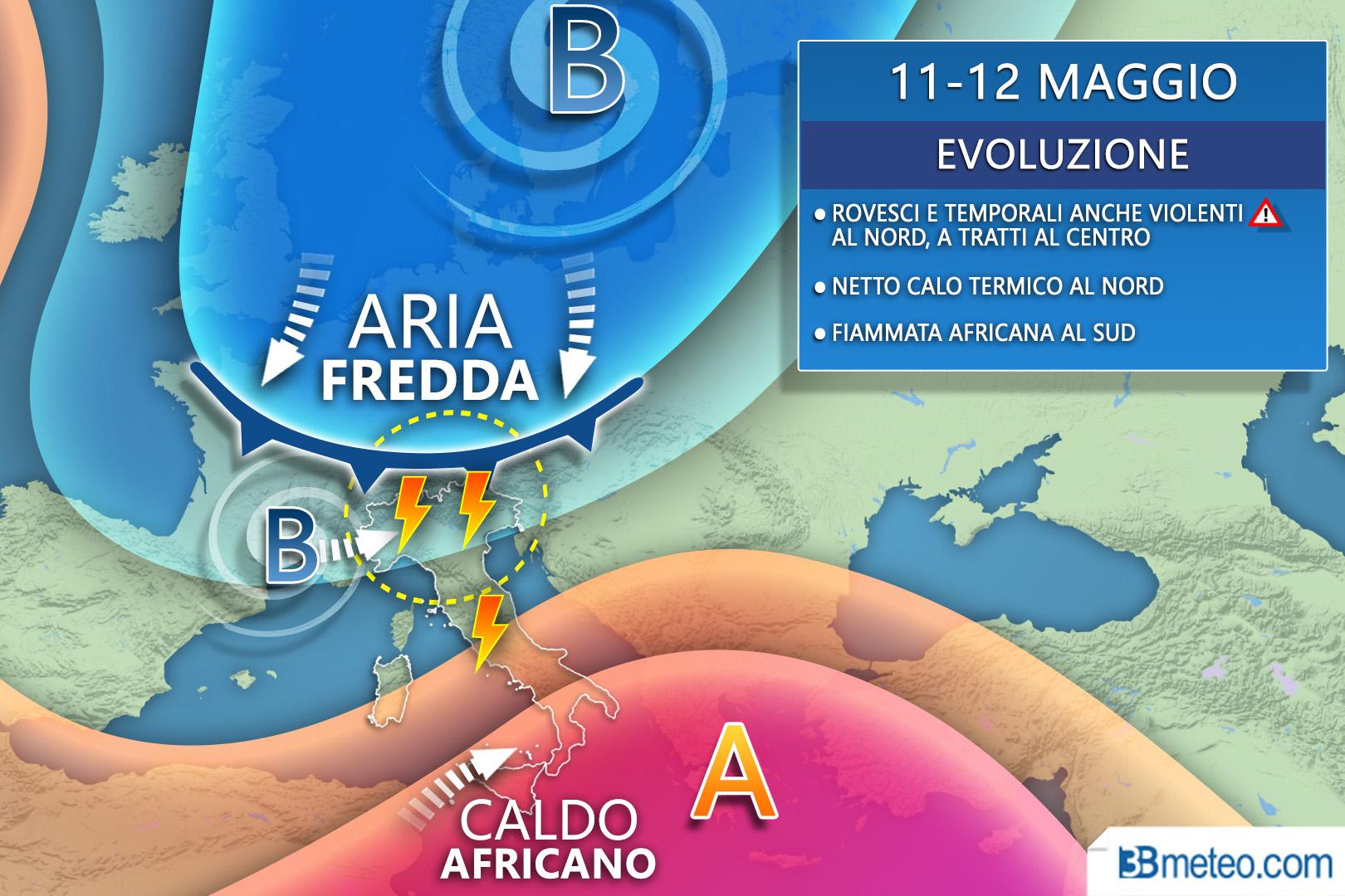 11-12 Maggio europea meteo italia