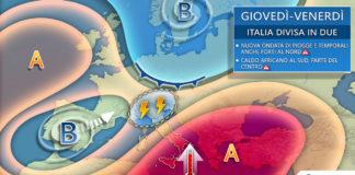 14-15 Maggio giovedì venerdì meteo europa italia