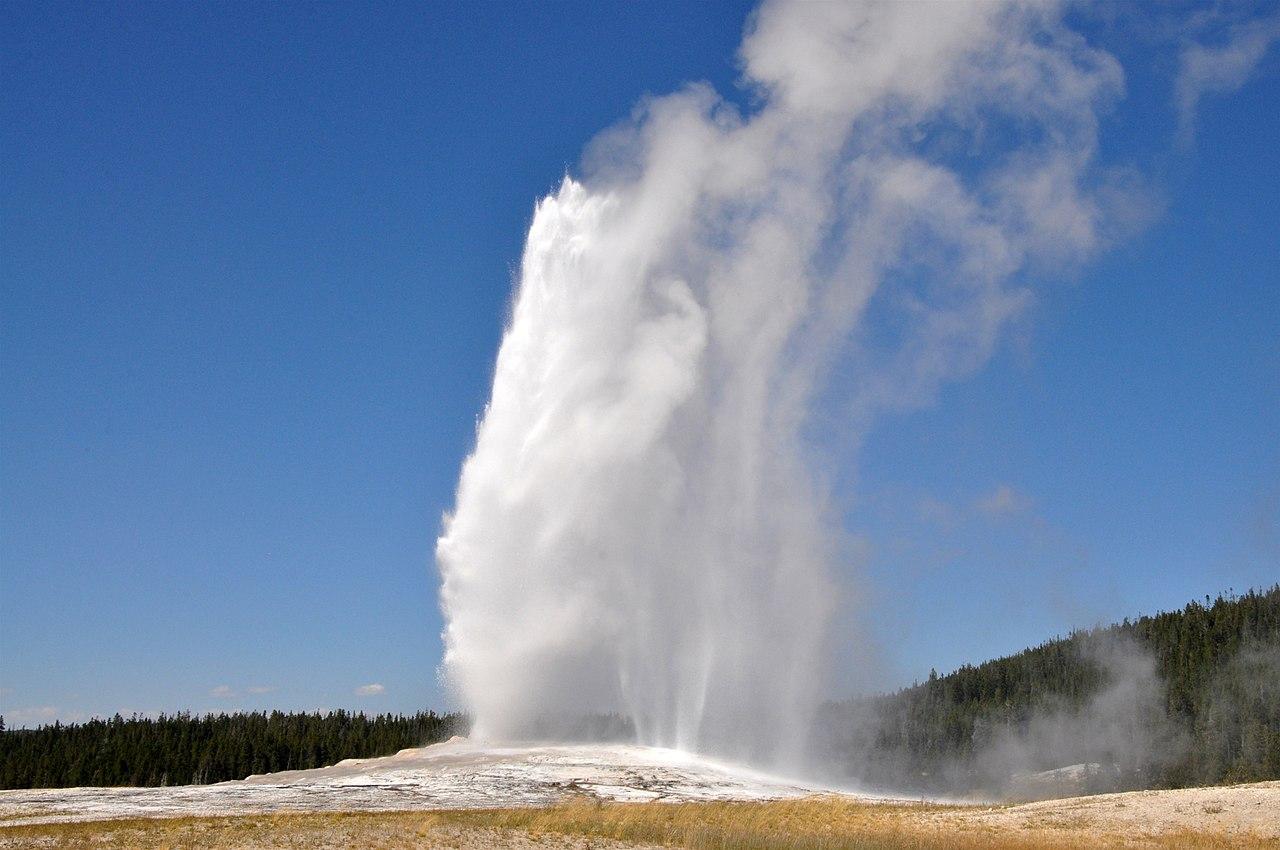 Un geyser di Yellowstone