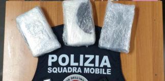Droga squadra mobile Frosinone