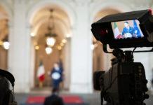 Giuseppe Conte in conferenza stampa il 16 maggio 2020 a Palazzo Chigi