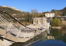 Ponte di albiano magra crollato