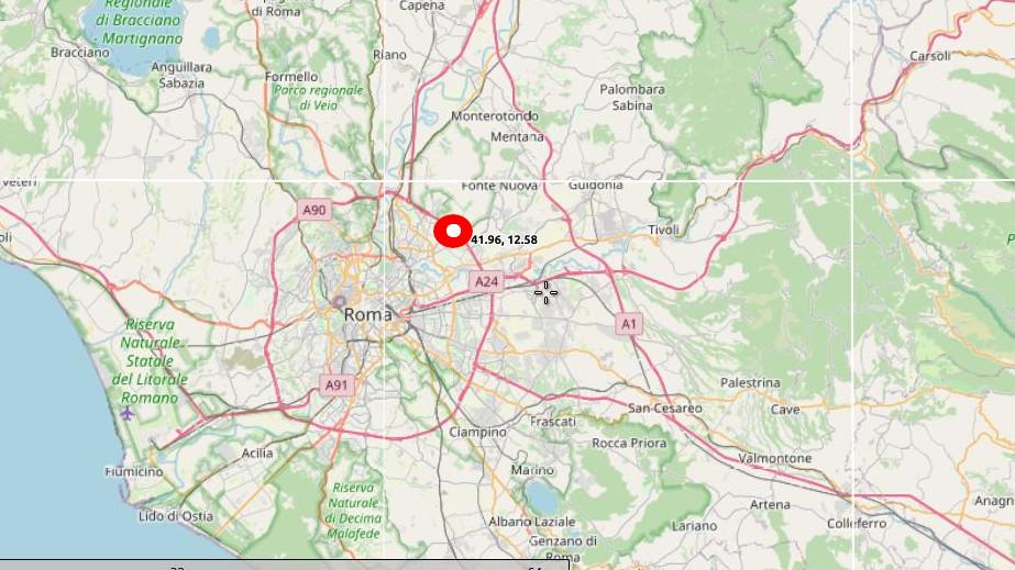 Cartina D Roma.Cartina E Dati Del Terremoto In Provincia Di Roma Paese Sera