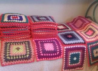 QUadrati di lana per il mantello