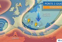 La carta meteorologica per il ponte del 2 giugno