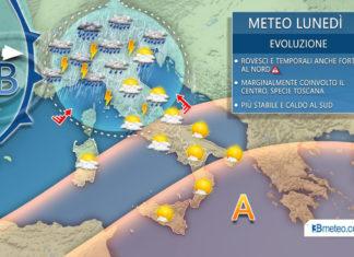 meteo temporali lunedi