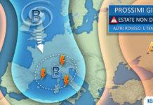 Prossimi giorni estate non decolla meteo italia