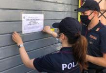 Polizia Esquilino negozi chiusi