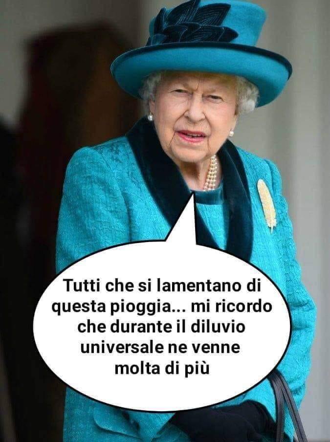 Regina Elisabetta pioggia