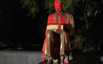 Statua di Indro Montanelli imbrattata