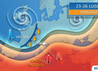 23-26 LUGLIO METEO ITALIA