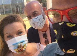 Bugetti Parri e Storai con le mascherine