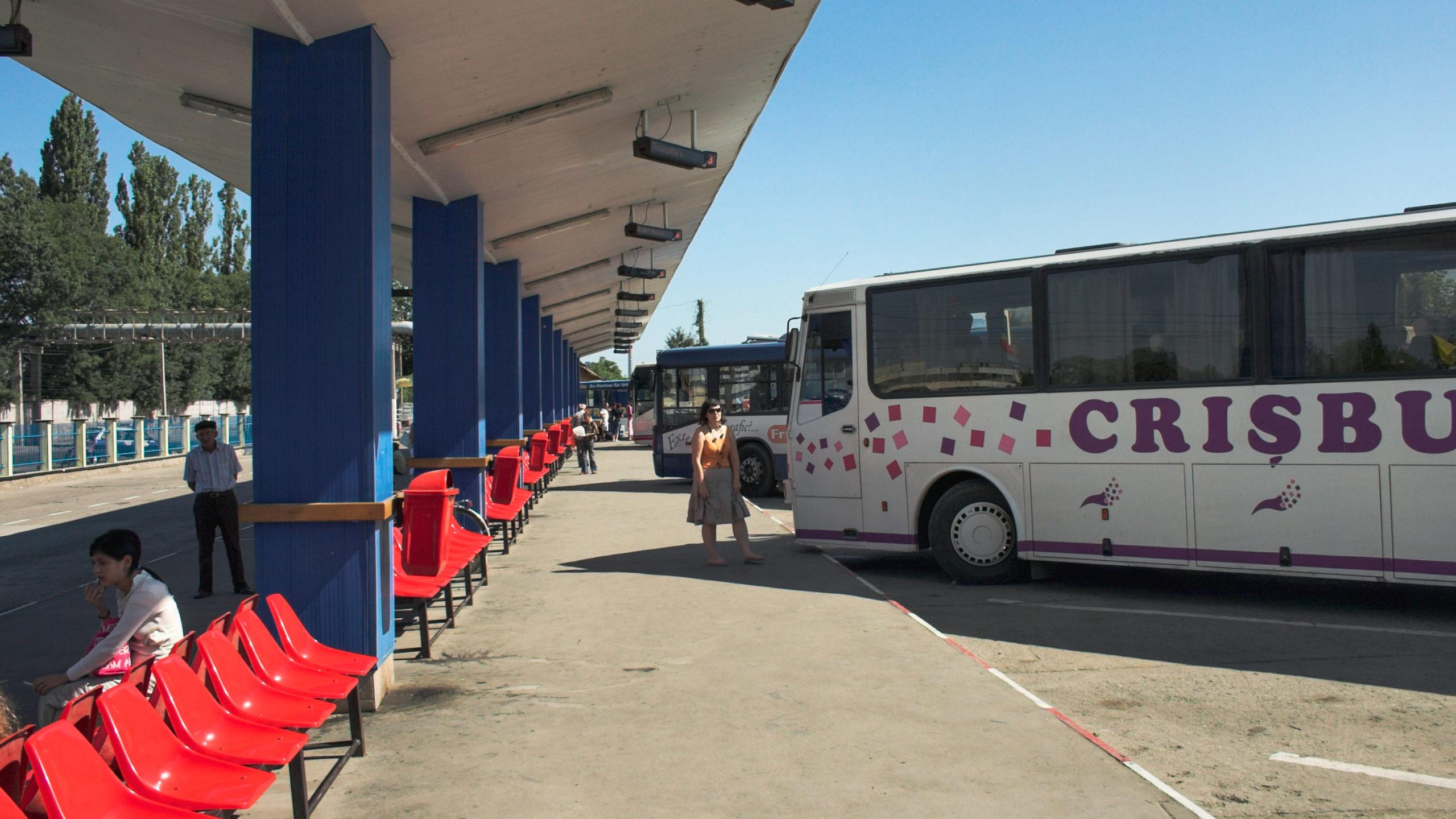 Bus terminal di Arad in Romania