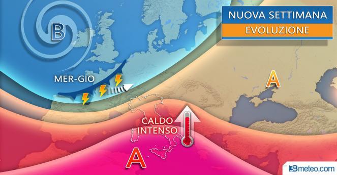 Caldo intenso sull'Italia con l'anticiclone africano