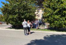 Manifestazione trasporto disabili a Roma sotto la sede della Regione Lazio