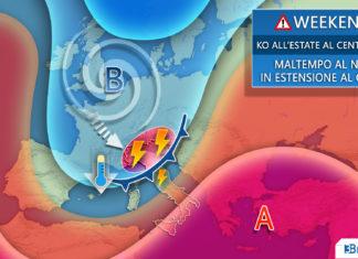WEEKEND tendenza meteo italia
