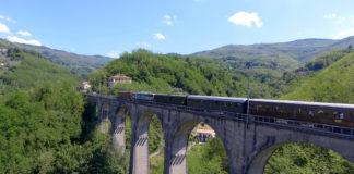 La ferrovia Porrettana in una foto aerea