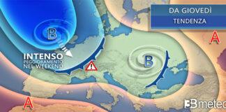 Da giovedì seconda parte settimana meteo italia europea