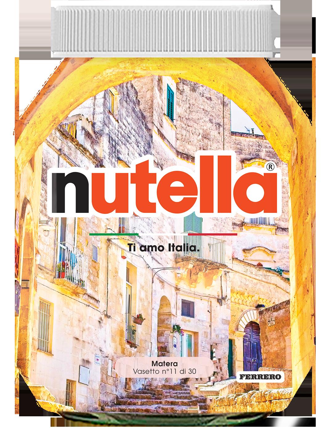 Basilicata - Matera - i vasetti di nutella dedicati all'italia