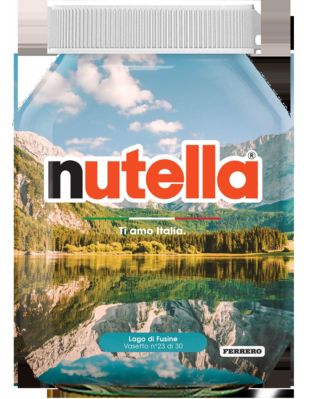 Friuli Venezia Giulia - Lago di Fusine - i vasetti di nutella dedicati all'italia