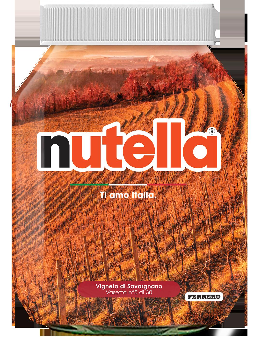 Friuli Venezia Giulia - Vigneto di Savorgnano - i vasetti di nutella dedicati all'italia