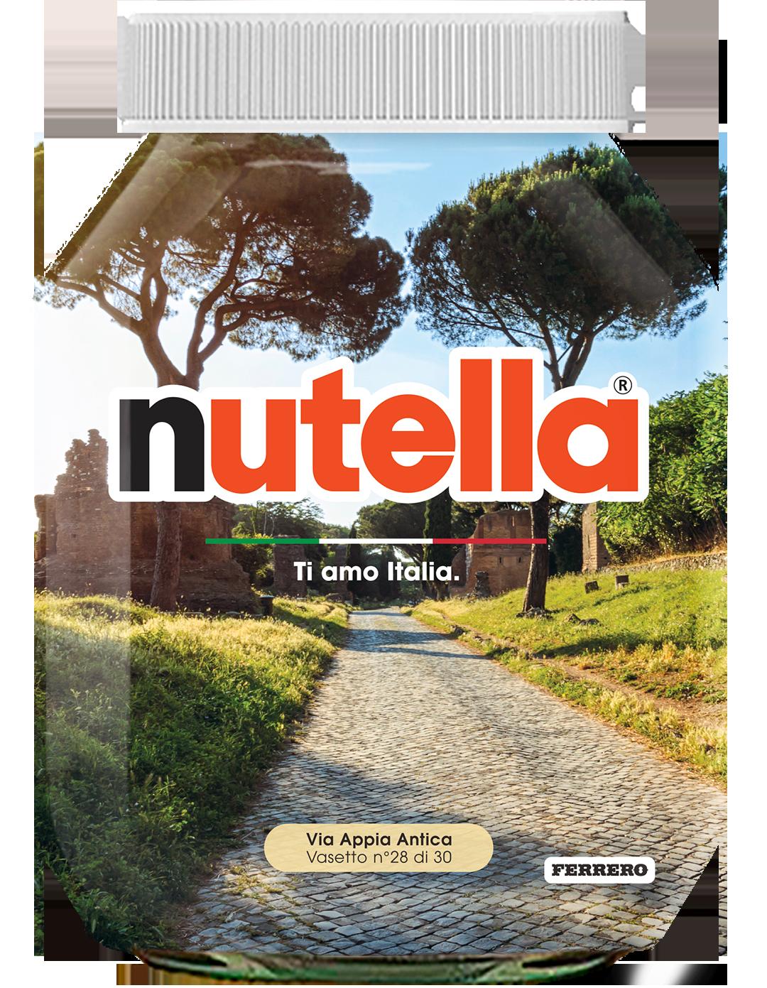 Lazio - Via Appia Antica - i vasetti di nutella dedicati all'italia