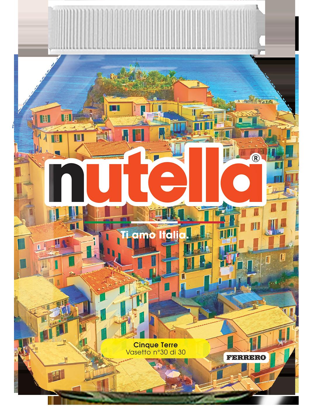 Liguria - Cinque Terre - i vasetti di nutella dedicati all'italia