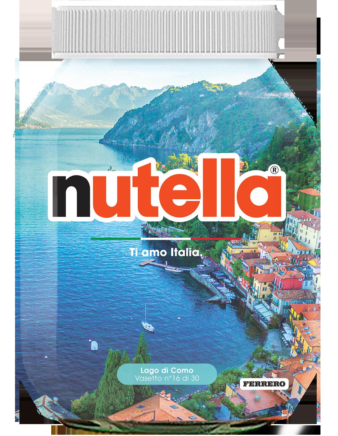 Lombardia - Lago di Como - i vasetti di nutella dedicati all'italia