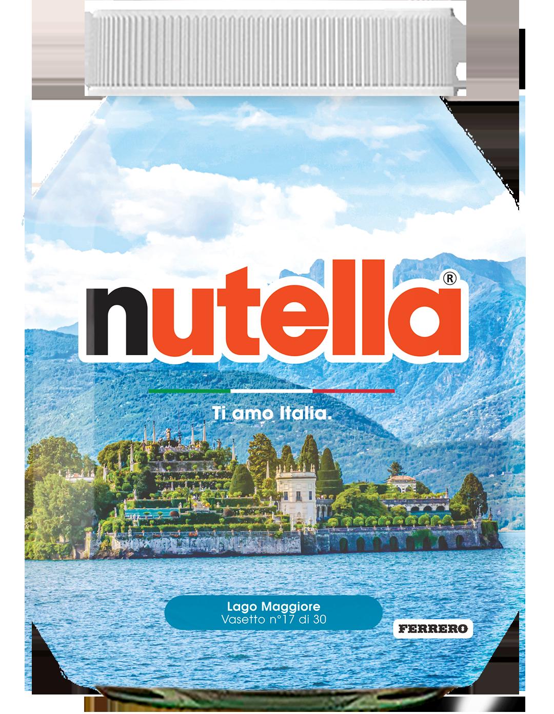 Piemonte - Lago Maggiore - i vasetti di nutella dedicati all'italia