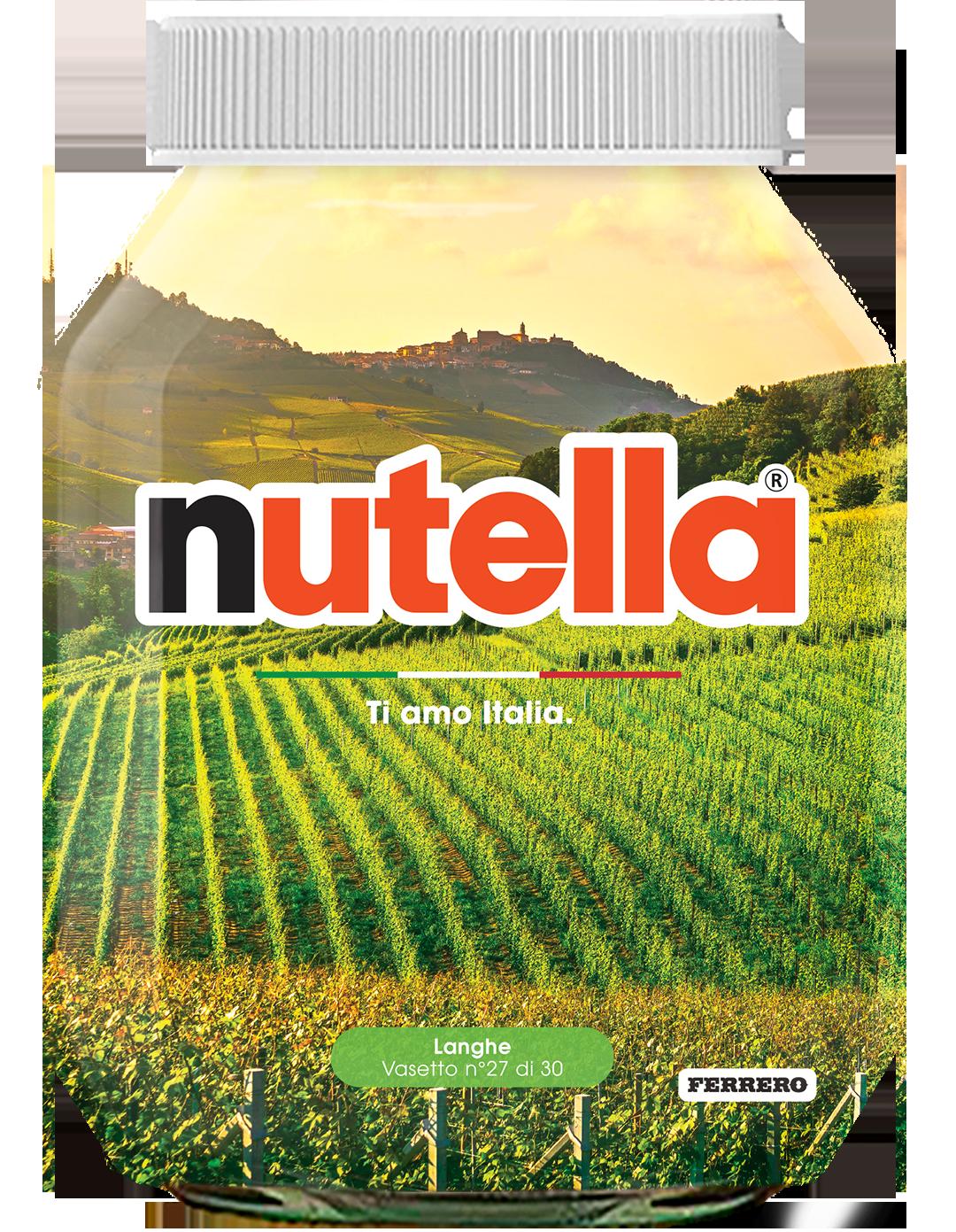 Piemonte - Langhe - i vasetti di nutella dedicati all'italia
