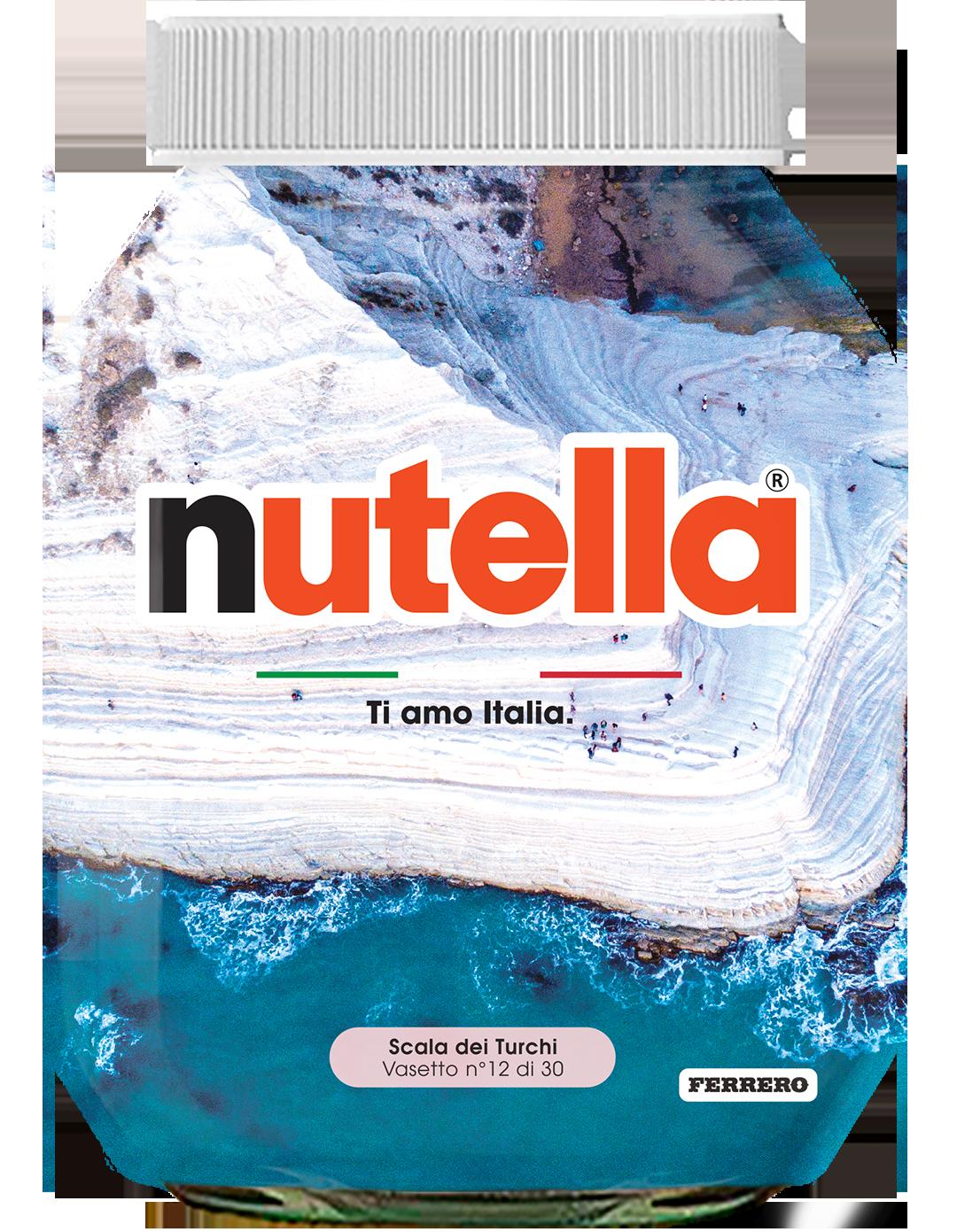 Sicilia - Scala dei Turchi - i vasetti di nutella dedicati all'italia