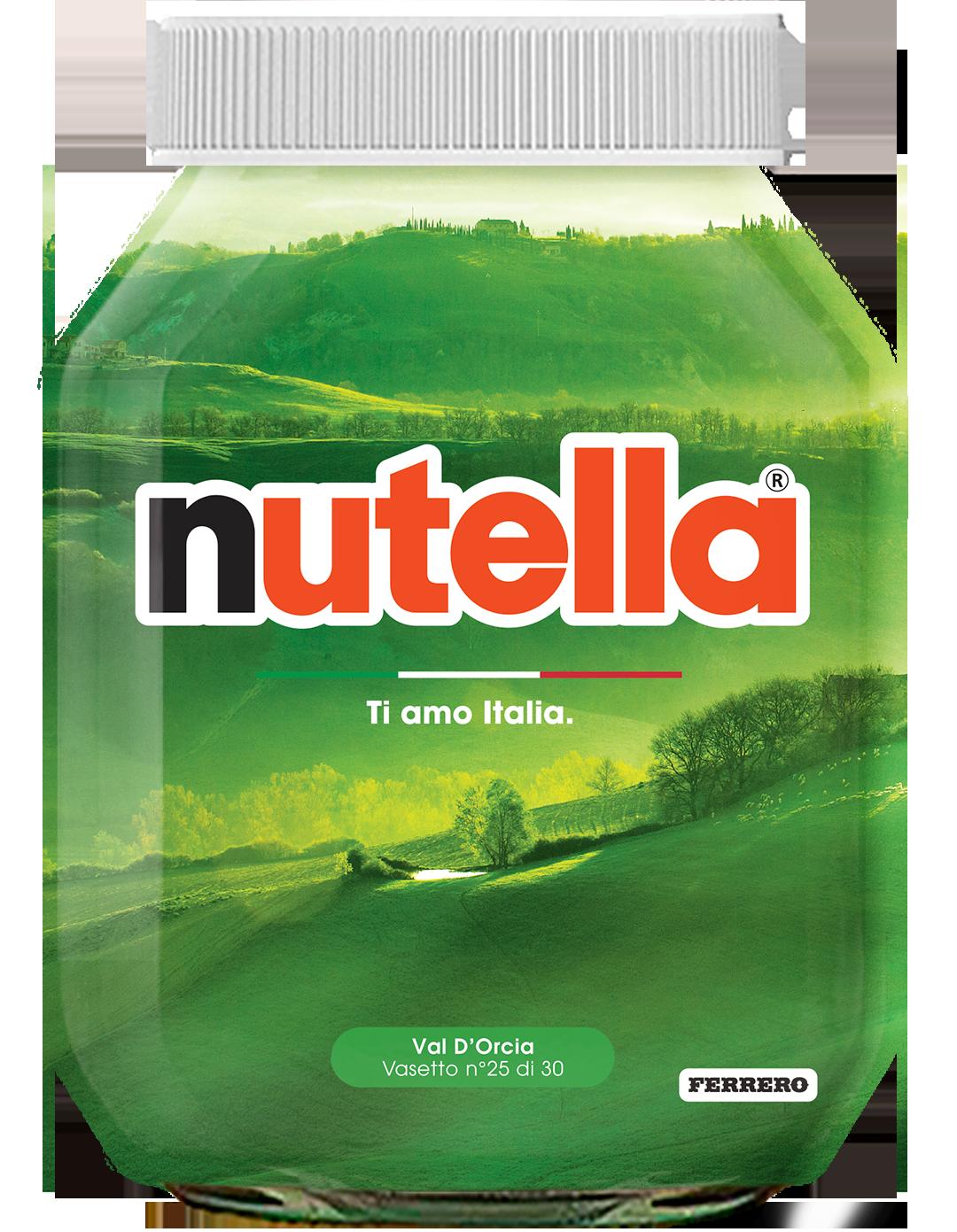 Toscana - Val D'Orcia - i vasetti di nutella dedicati all'italia