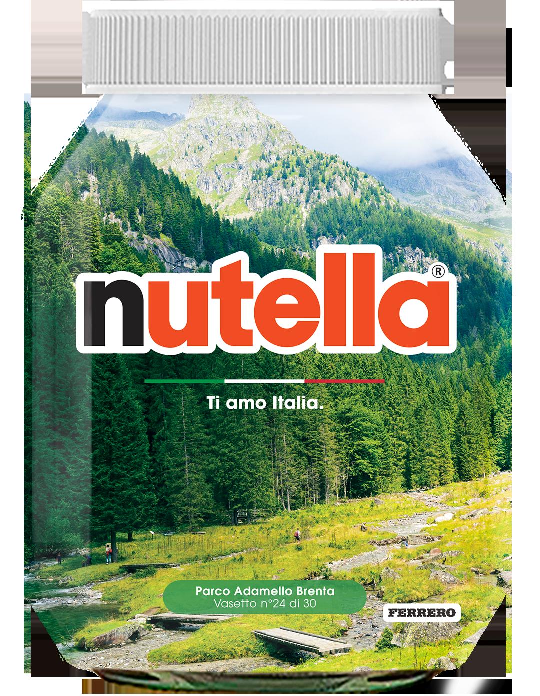 Trentino Alto Adige - Parco Adamello Brenta - i vasetti di nutella dedicati all'italia