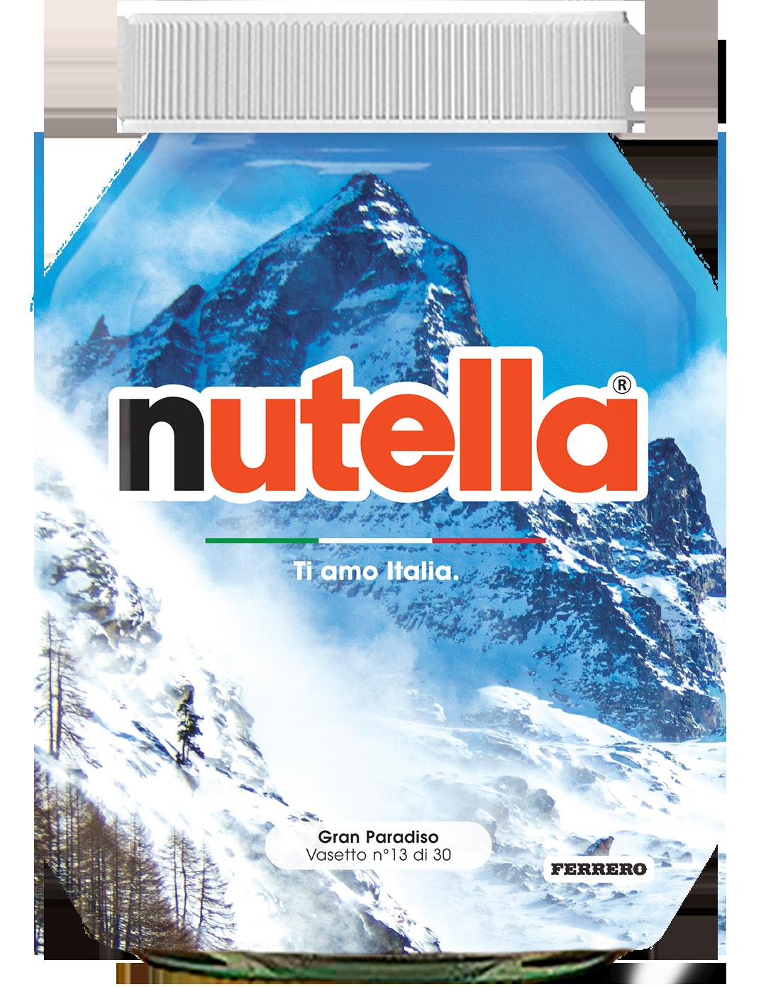 Valle d'Aosta - Gran Paradiso - i vasetti di nutella dedicati all'italia