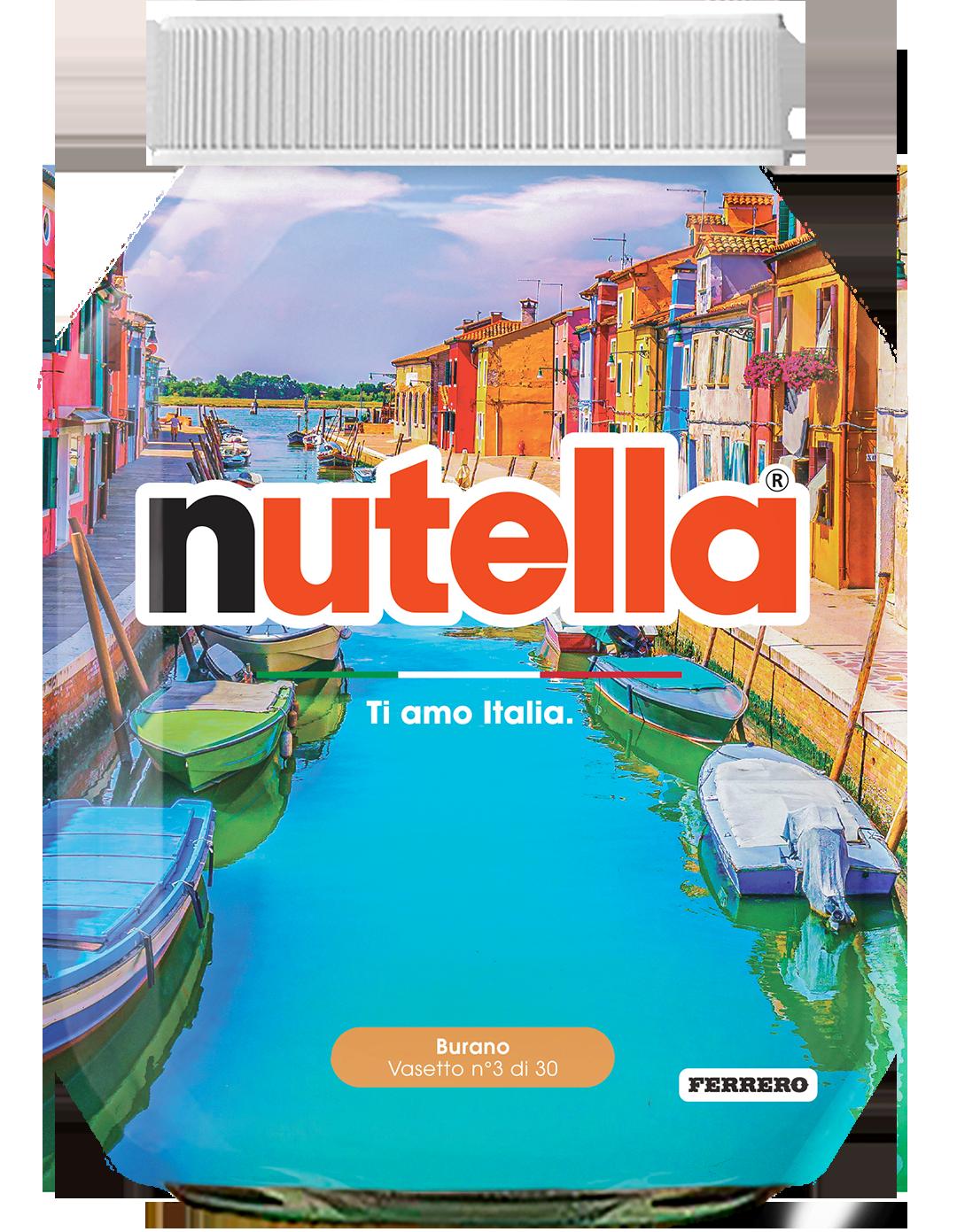 Veneto - Burano - i vasetti di nutella dedicati all'italia