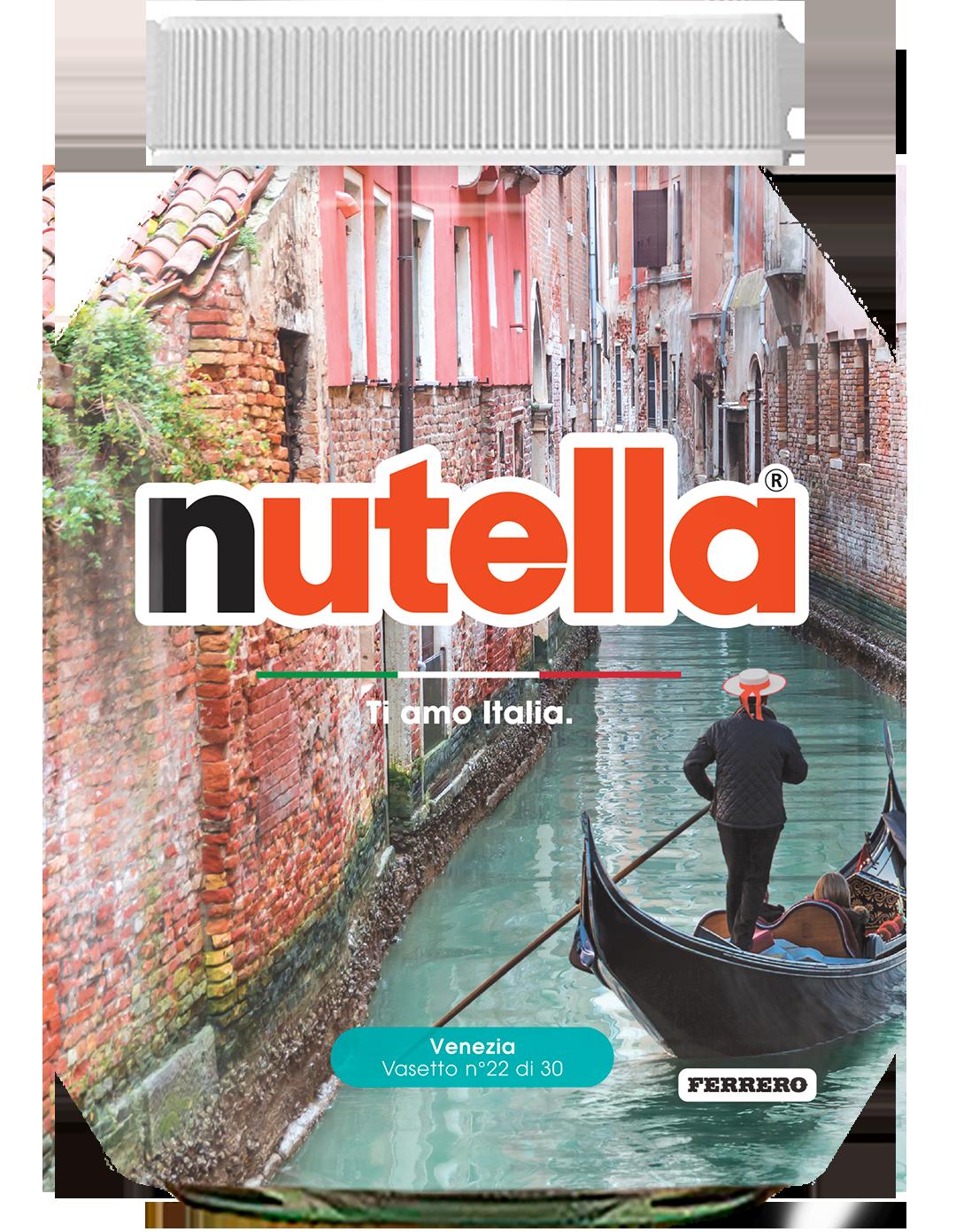 Veneto - Venezia - i vasetti di nutella dedicati all'italia
