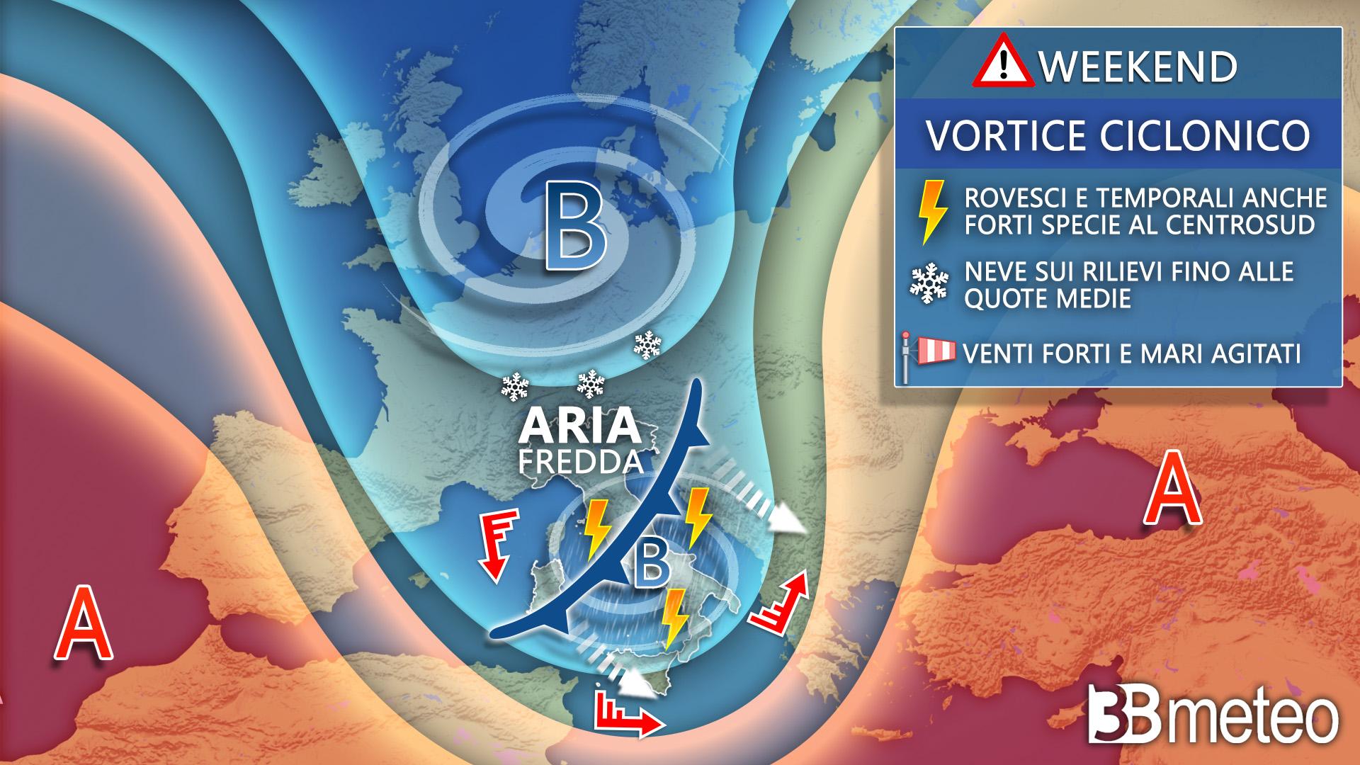 weekend meteo italia europa 2