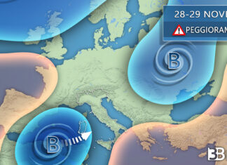 Peggioramento meteo venerdì sull'Italia