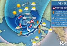 Venerdì meteo italia