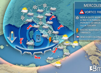 Mercoledì meteo italia evoluzione