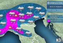 Neve focus domenica sera meteo italia
